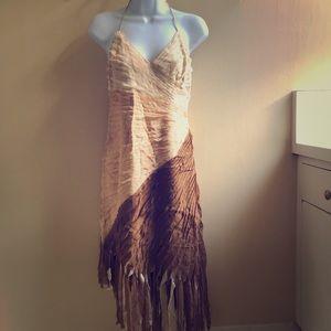 Amazing Bebe silk fringe dress